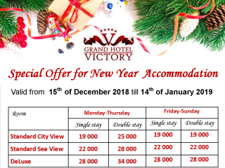 Special Offer for New Year Accommodation